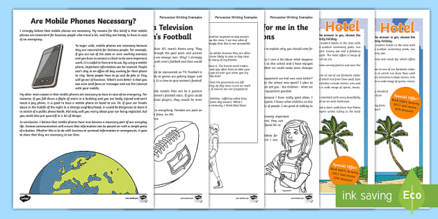 Au T2 E 290 Persuasive Writing Examples Resource Pack Ver 1