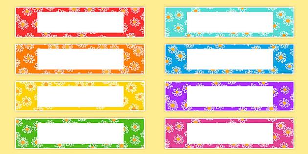 Free Flower Drawer Peg Name Labels Flower Plants
