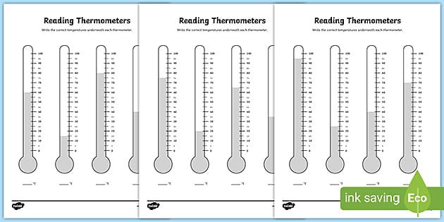 Reading A Thermometer Activity (teacher Made)