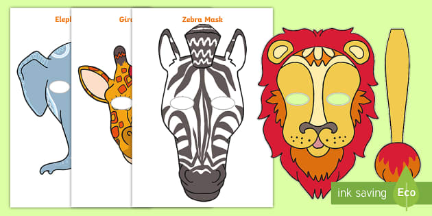 Tinga Tinga African Animals Role Play Masks Tales From