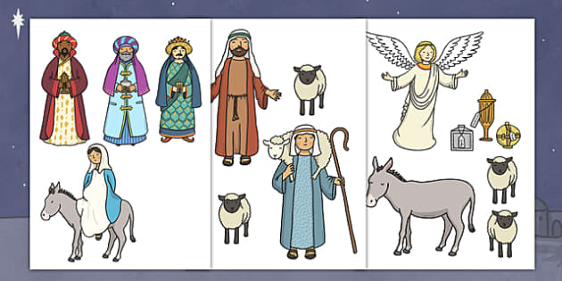 Cut Out Nativity Scene Nativity Christmas Story Xmas