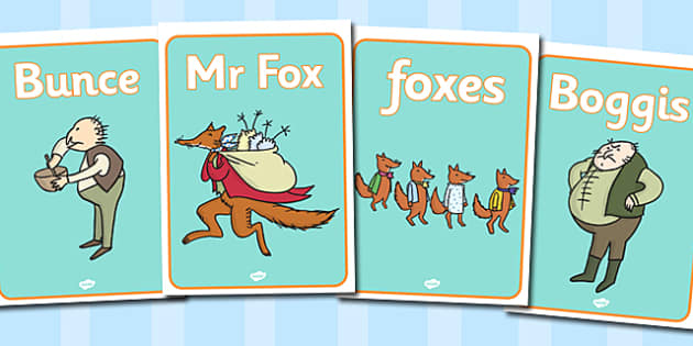 Free Display Posters To Support Teaching On Fantastic Mr Fox