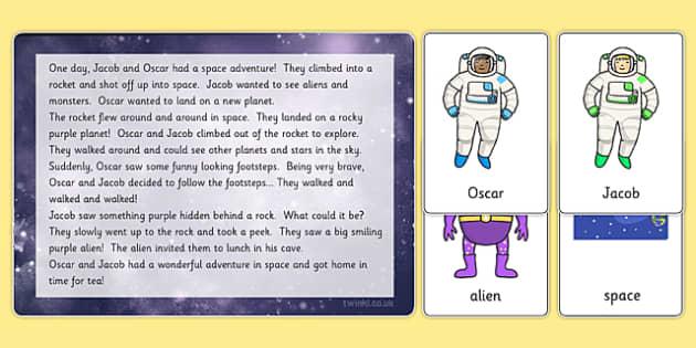 Space Themed Listening Story Activity Teacher Made