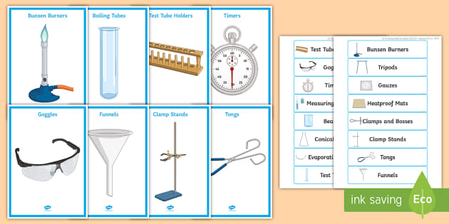 Science Equipment List for Cupboards and Drawers Display Pack ...
