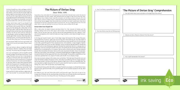 the picture of dorian gray use of mirrors essay Picture dorian gray - criticism of oscar wilde's the picture of dorian gray.
