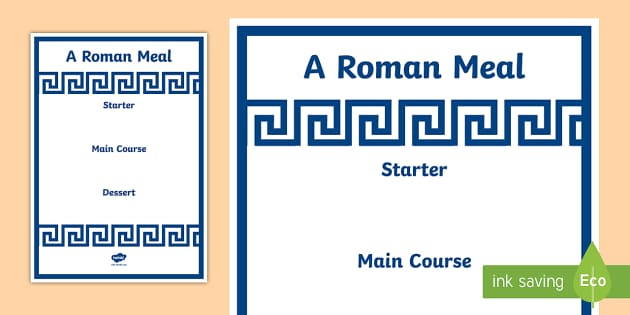 Roman menu template roman menu template roman food roman for Roman menu template