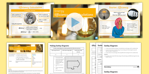 Energy Lesson 2 Efficiency And Calculations Efficiency