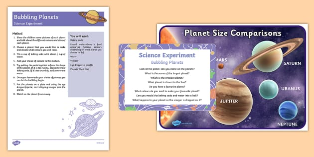 EYFS Bubbling Planets Science Experiment and Prompt Card Pack