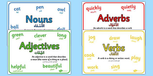 Nouns verbs adjectives adverbs worksheet ks2