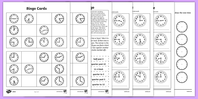 T N Telling The Time Worksheets Resource Pack Ver on time homework ks1