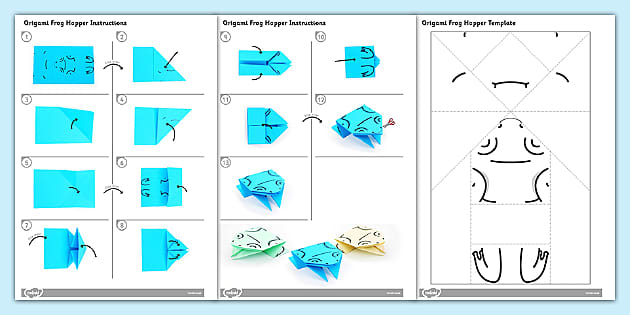 How to Make an Origami Jumping Frog (with Pictures) - wikiHow | 315x630