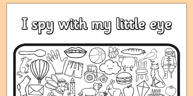 i spy with my little eye colouring activity sheet - Colouring In Activities