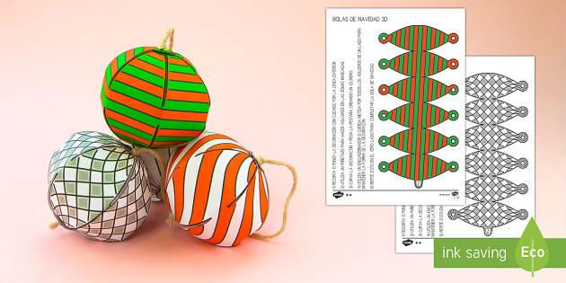 Bolas de Navidad sencillas Manualidad