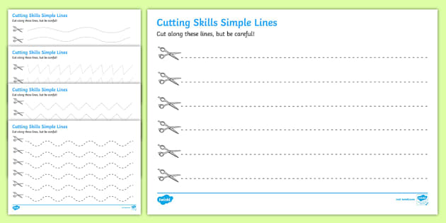 cutting skills worksheets  lines