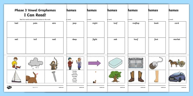 I Can Read Words Using Phase 3 Vowel Graphemes