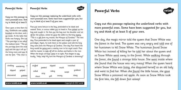 Powerful Verbs Worksheets verbs verbs worksheets powerful – Verbs Worksheets