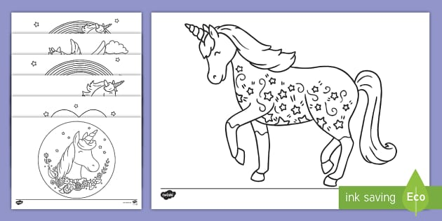 FREE Unicorn Colouring Pages