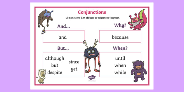 Conjunctions Ks1 Word Mat Connectives Word Mat