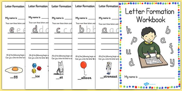 letter formation workbook a z education home school child. Black Bedroom Furniture Sets. Home Design Ideas