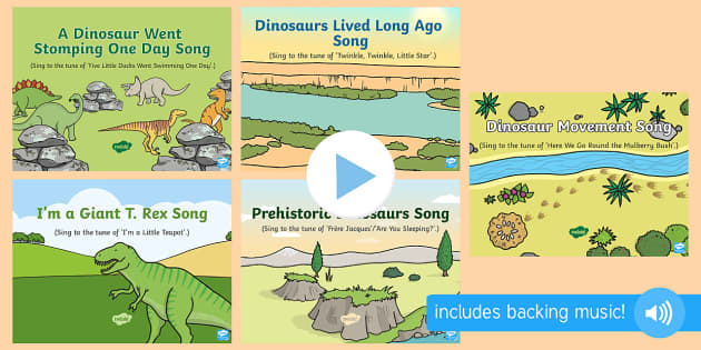 I'm a Giant T  Rex Song PowerPoint - EYFS, Early Years, KS1