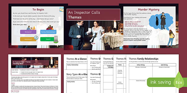 themes in an inspector calls Themes class taking the play from a socialist perspective inevitably focuses on issues of social class class is a large factor, indirectly, in the events of the play and eva smith's death.