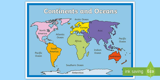Map Of Europe With Oceans.Continents And Oceans Map Countries World Map Globe Earth Oceans