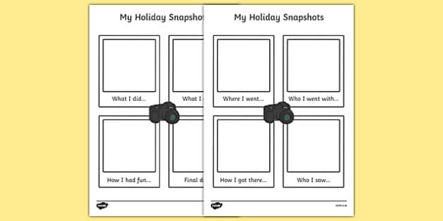 My holiday snapshots writing frame my holiday snapshot pronofoot35fo Gallery