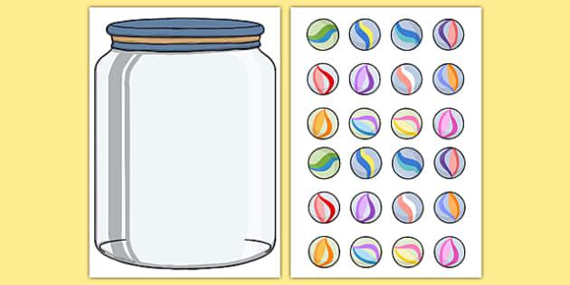 Classroom Marble Jar Ideas ~ Marble jar reward display