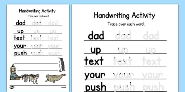 Antarctica Themed Editable Handwriting Practice - letter