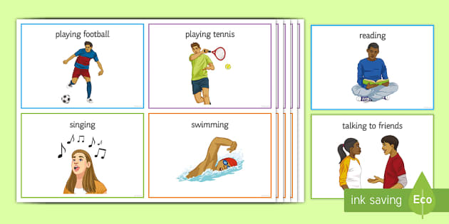 free time activities flashcards pdf