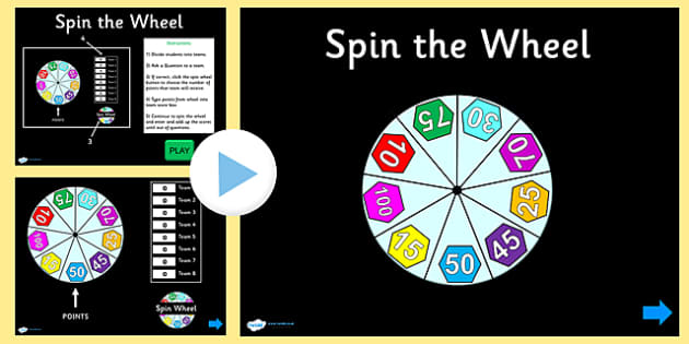 spin the wheel plenary quiz powerpoint - spin the wheel, Powerpoint templates