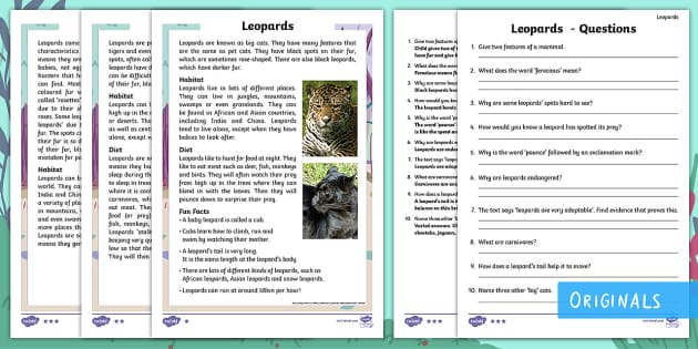 Jungle rainforest primary resources tropical year 2 leopards differentiated reading comprehension activity childrens books leopard spots patches fandeluxe Image collections