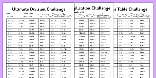 Ultimate Multiplication and Division Worksheet / Worksheet
