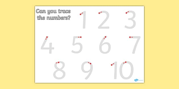 Number Formation Teaching Resources - Number Writing