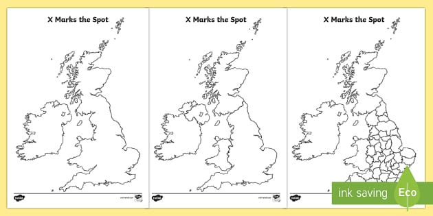 x marks the spot england geography worksheets maps map reading. Black Bedroom Furniture Sets. Home Design Ideas