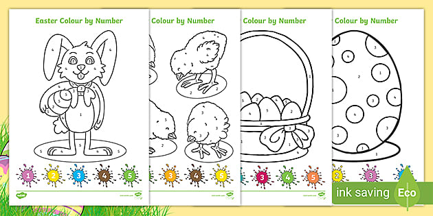 EYFS Easter Colour by Number (teacher made)