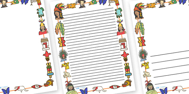 Aztec Page Borders Aztec Aztec People Mexican History