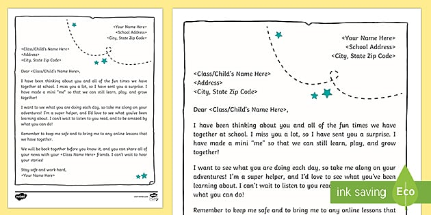 Teacher Letter To Student from images.twinkl.co.uk