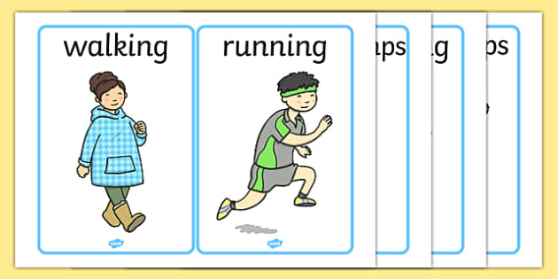Verb Picture Cards Pe Action Actions Physical Actions