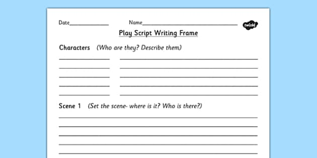 playscript homework ks2