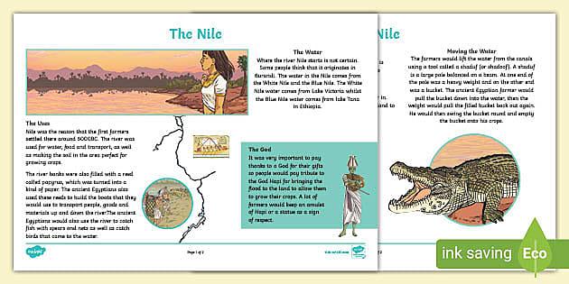 river nile homework