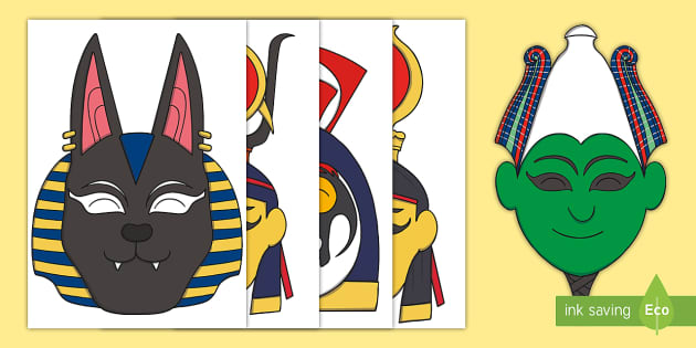 Ancient Egyptian Gods And Goddesses Role Play Masks