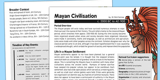 the rich and interesting history of the mayan civilization