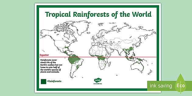 Rainforest Map Ks2 Reference Sheet