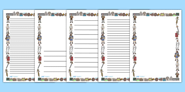 Ancient romans page borders a4 romans rome roman empire for Roman menu template