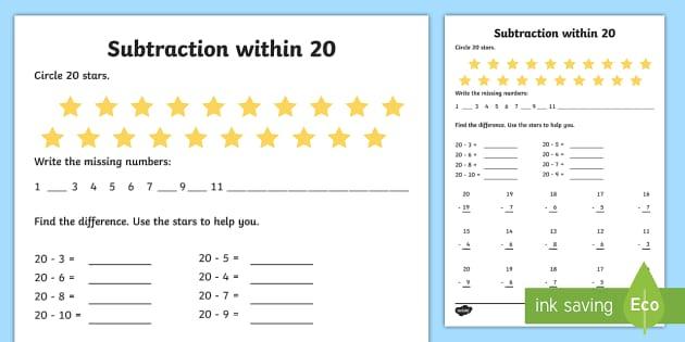 subtraction within 20 worksheet worksheet ni ks1 numeracy subtraction. Black Bedroom Furniture Sets. Home Design Ideas