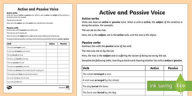 What Is An Active Voice? - Answered - Twinkl Teaching Wiki