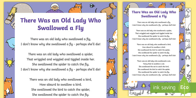 'There Was an Old Lady Who Swallowed a Fly' - Considerable