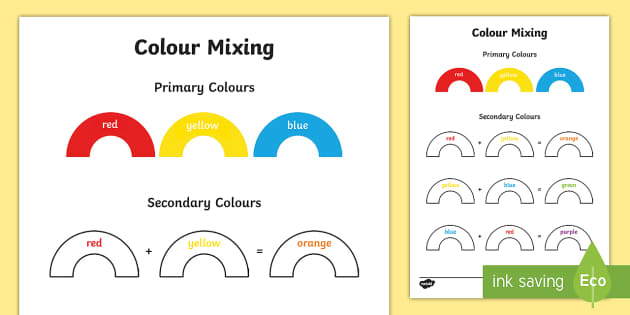 Colour Mixing Worksheet Activity Sheet Colour Mixing