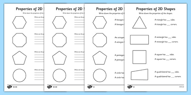 year 2 properties of 2d shapes worksheet activity sheet pack. Black Bedroom Furniture Sets. Home Design Ideas